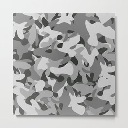 Camouflage Industrial Style Metal Print