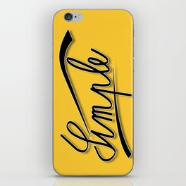 simple gold iPhone Skin