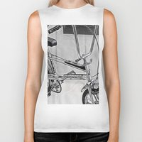 70s Biker Tanks featuring 70s Iconic Bike Uk by Paul & Fe Photography