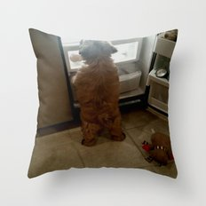 Squeaky, I found our snacks! Throw Pillow