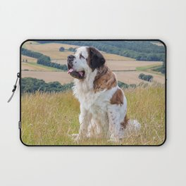 St Bernard dog Laptop Sleeve