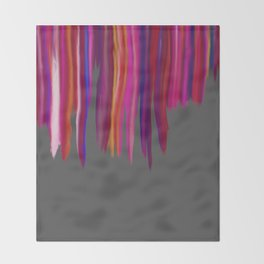 Smudged Paint Pink Throw Blanket