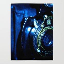 Capturing Yesteryear a vintage Kodak folding camera photograph Poster