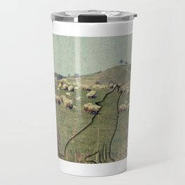 Shepherding wolf Travel Mug