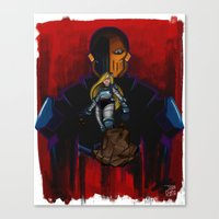deathstroke Canvas Prints featuring Evil Terra-forming With Deathstroke by Joshua M. Rhodes III