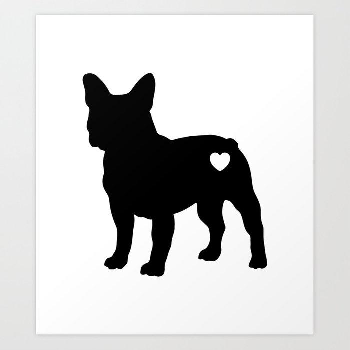 French Bulldog Puppy Frenchie Love Kunstdrucke