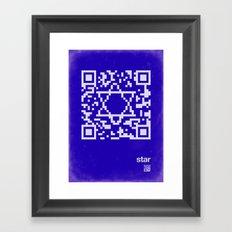 QR star Framed Art Print