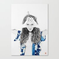 dragonfly Canvas Prints featuring DRAGONFLY by lantomo