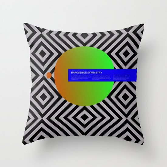 Impossible Symmetry - Circle Throw Pillow