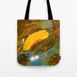 But a Dream - Leaf Floating on River Tote Bag