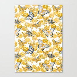 Butterflies 'n Roses Canvas Print