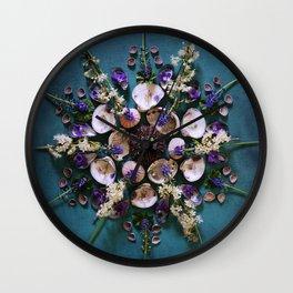 April Nature Mandala II  Wall Clock