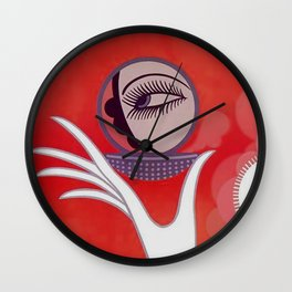 "Art Deco Design ""Compact - Vanities"" by Erté Wall Clock"