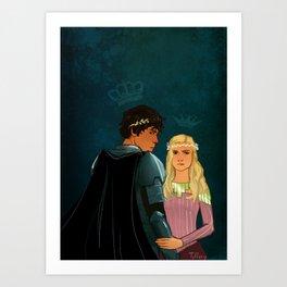 The Brave Princess & The Rebel King Art Print