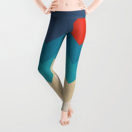 Vintage 70s Adventure on the Mountains Leggings