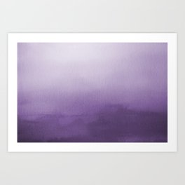 Inspired by Pantone Chive Blossom Purple 18-3634 Watercolor Abstract Art Art Print