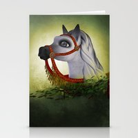 carousel Stationery Cards featuring Carousel by Texnotropio
