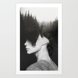 Haute coiffure Art Print