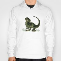 trex Hoodies featuring Baby T-Rex by River Dragon Art