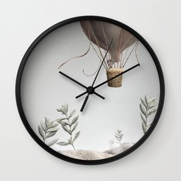 Morning Balloon Wall Clock
