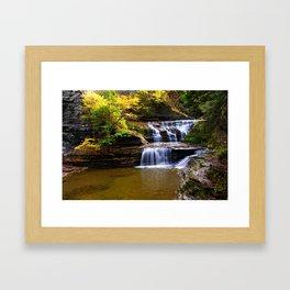 Cascata in autunno Framed Art Print