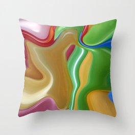 Liquid Hue Throw Pillow