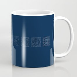 8 fold rosette in blue Coffee Mug