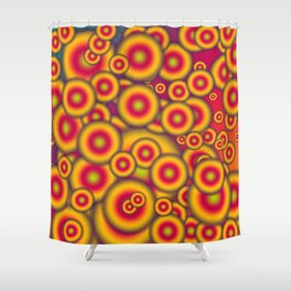 Jelly donuts invasion Shower Curtain