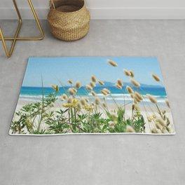 Beach bunny tail  sea grass Rug