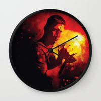 messi Wall Clocks featuring Do it like messi by Axel Savvides