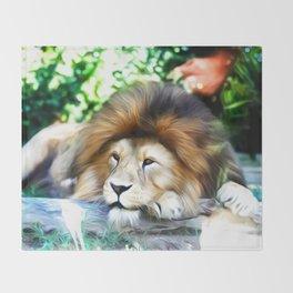 Lion Art One Throw Blanket