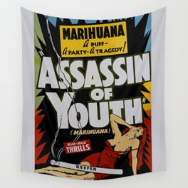 Anti-hemp old poster Wall Tapestry