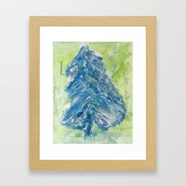 Snowy Christmas Tree - Painting by young artist with Down syndrome Framed Art Print