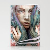 oil Stationery Cards featuring Onawa by Michael Shapcott