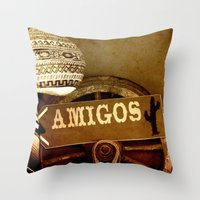 mexican Throw Pillows featuring Mexican by laika in cosmos