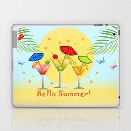 Hello Summer, vector illustration with text Laptop & iPad Skin