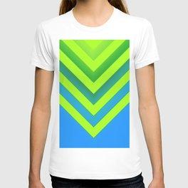 Sky & Lime Chevron T-shirt
