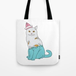Inside Kitty Tote Bag