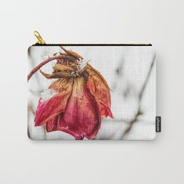 Fallen Rose in Winter Carry-All Pouch