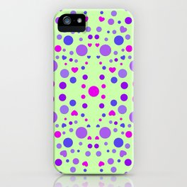 CIRCLES AND HEARTS iPhone Case
