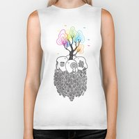 tree of life Biker Tanks featuring Tree Of Life by Heiko Windisch