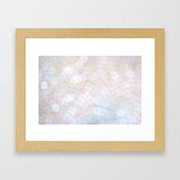White Bokeh Framed Art Print