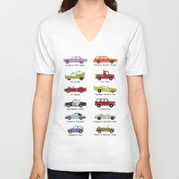 simpsons V-neck T-shirts featuring Simpsons Cars by SIME Design