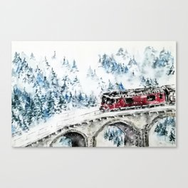 Winter Travel Canvas Print