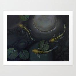Golden Trio Art Print