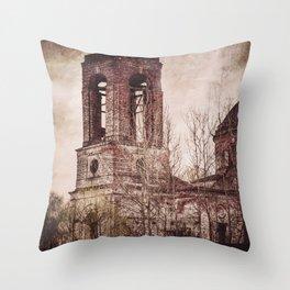 Church in ruins Throw Pillow