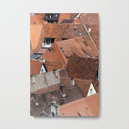 Roofs urban scene in an old town in Germany Metal Print