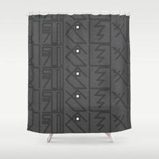 Decypher Shower Curtain