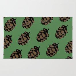 Green Pinecone Pattern Rug