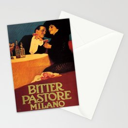 Vintage poster - Bitter Pastore Milano Stationery Cards